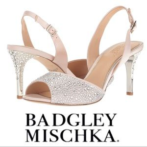NEW BADGLEY MISHKA Jewel TANNER High Heel SHOES